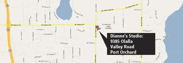 Dianne's studio map