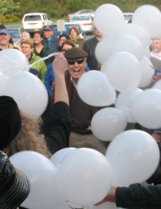 McKinstry's family release balloons to open Counselor's Corner