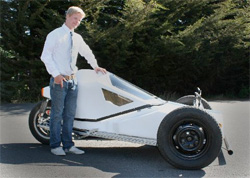 Mark King and his electric car