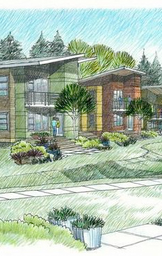 Rendering of the Ferncliff housing project