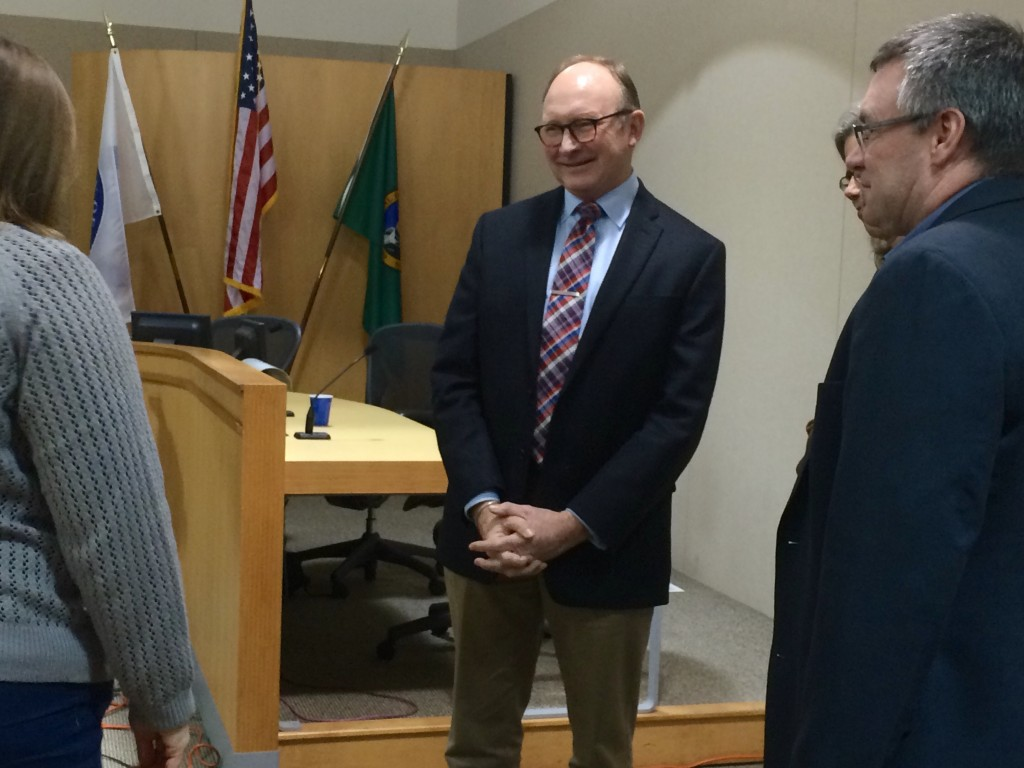 Michael Scott, a Seattle lawyer, was appointed to the Bainbridge Island City Council by a 4-2 vote Thursday. RACHEL ANNE SEYMOUR / KITSAP SUN