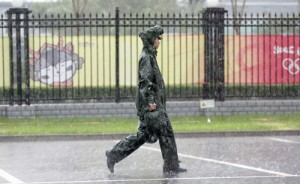 The U.S./Canada softball game was rained out on Thursday afternoon at the Beijing Olympics.