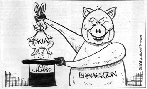 Bremerton = Evil Pig, Port Orchard = Out Of Fashion Hat ...