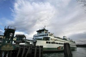 Ferry docked in Bremerton (Larry Steagall | Kitsap Sun)
