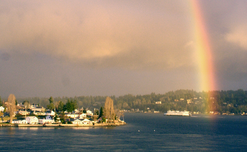 Rainbow in Bremerton over Manette.