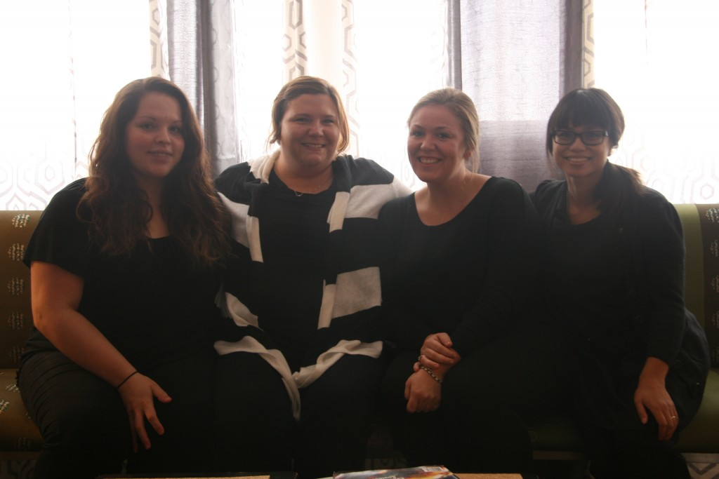 From left to right: Rejuv staff Christina Zamora, Julie Poston, Val Sechrest and Annaliza Tolosa.