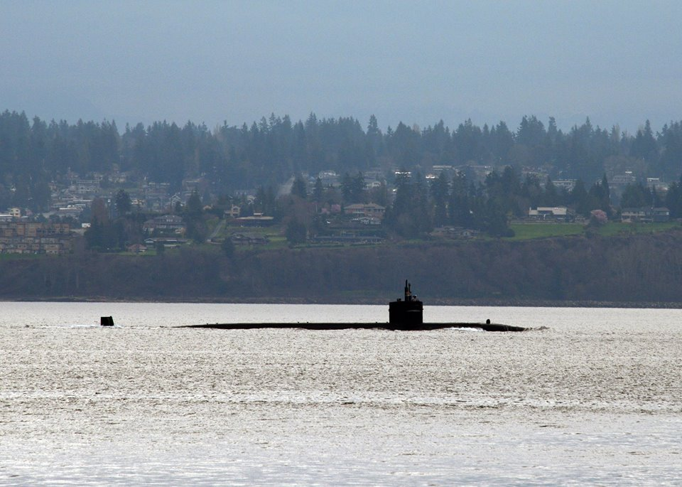 Lt. Cmdr. Brian Badura captured the Bremerton as she came into view in Kingston.