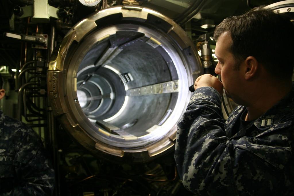 Lt. Joe Huck shows us a torpedo bay.