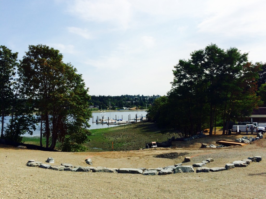 The new park in Anderson Cove is almost done.