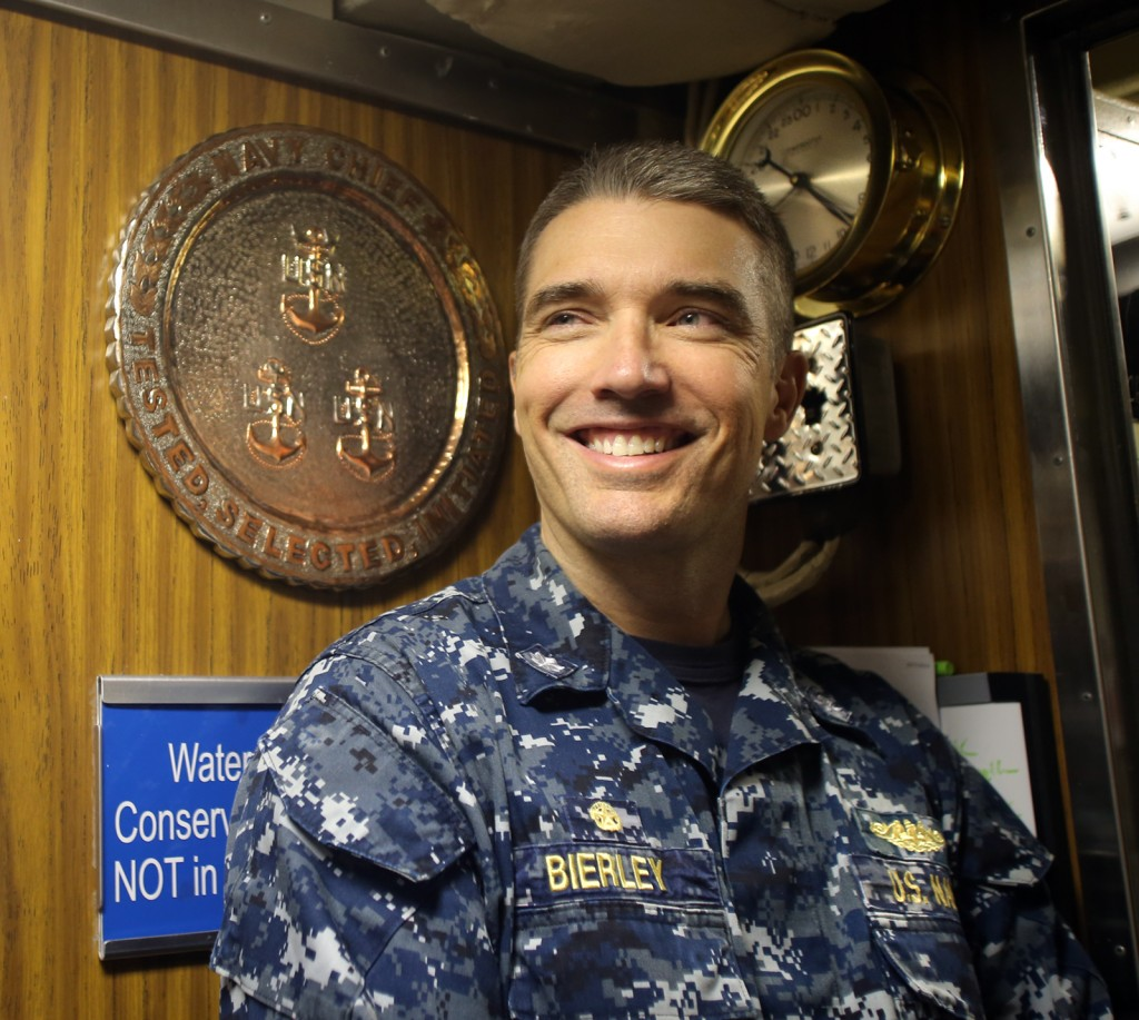 USS Seawolf Commander Jeff Bierley in the chief petty officer's quarters on the Seawolf. LARRY STEAGALL / KITSAP SUN