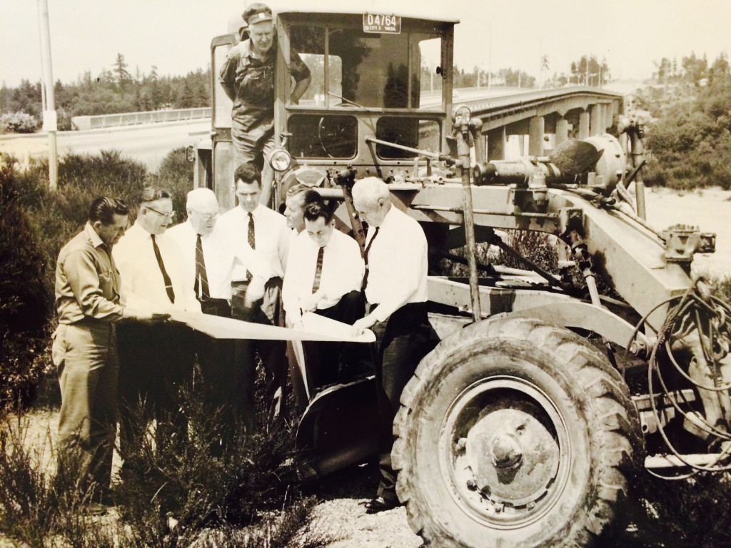 City leaders pose for a photo as Roto Vista Park is constructed in 1962.