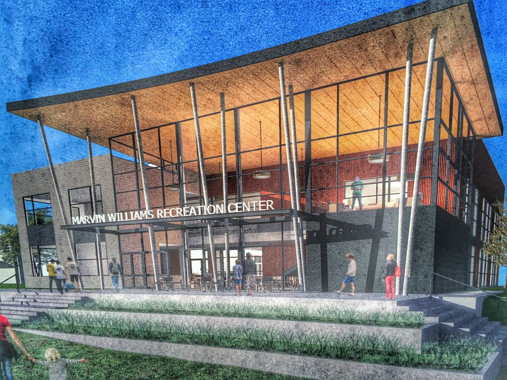Architect's rendering of the Marvin Williams Center.