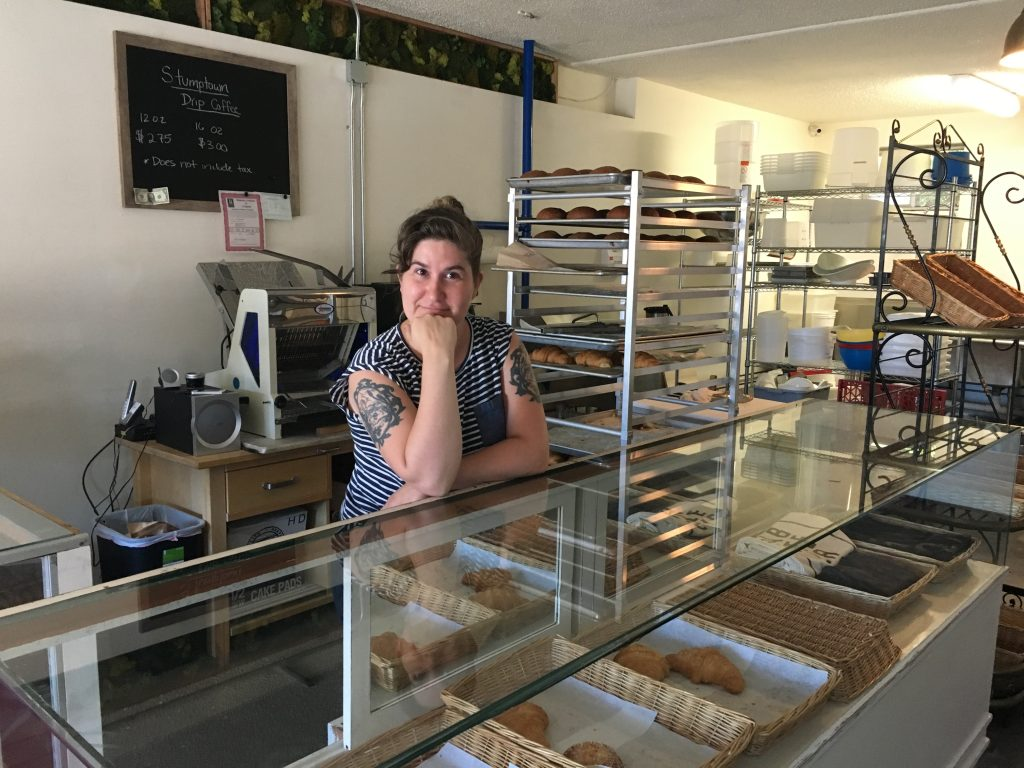 Kate Giuggio of Saboteur Bakery on the first day.