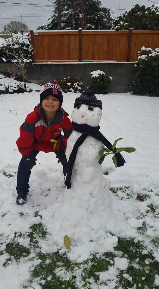 Another great snowman! Photo by Regina Hernandez