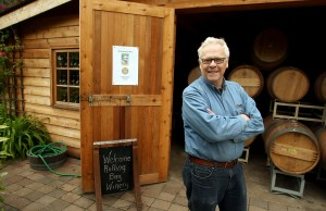 Alphonse de Klerk at his Rolling Bay winery on Bainbridge Island on Thursday, May 30, 2013. (MEEGAN M. REID / KITSAP SUN)