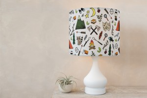 lamp shade adventure camp minted