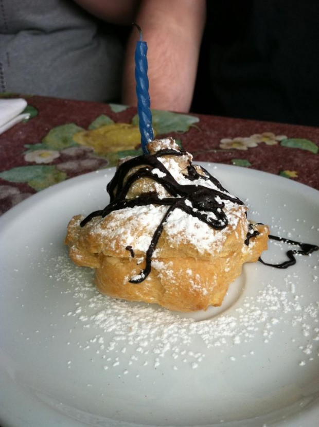Birthday Bavarian Creme Pastries from Jak's Cafe