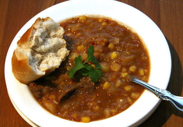 argentine pumpkin stew in a bowl