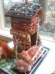 Gingerbread firehouse