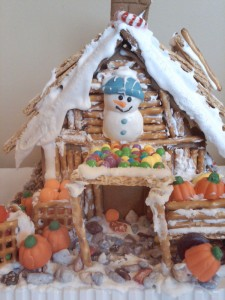 Harvest Gingerbread house