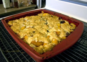 Peach-ified cobbler