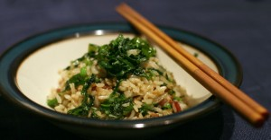 Fried Rice with Greens