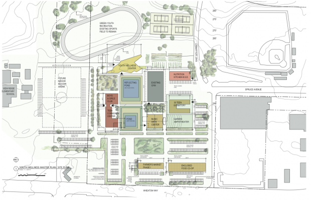 Map of the Youth Wellness Campus