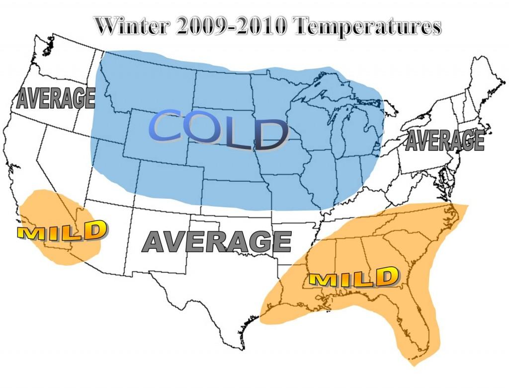 winter 09 10 temp