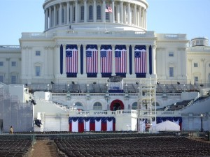 <em>Here's a shot of the capitol from a bit closer in the days leading up to the inauguration. Photo courtesy of Jerome Evans.</em>