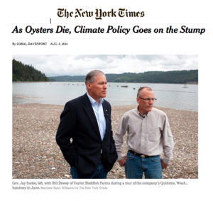 The headline and photo from the New York Times story.