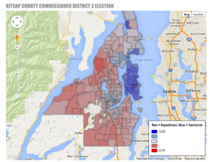 This is what the county commissioner election map looks like. Thanks to Jessie Palmer for compiling this info.