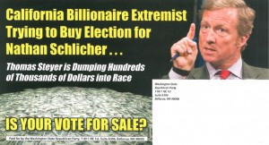 "This ad from 2013 could be changed in the future to read, ""California Billionare Extremist Senator ..."" after 2016. They might add ""Voted with (Insert liberal senator name here.) 96% of the time."""
