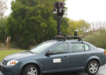 A Google Street View car (PHOTO BY GOOGLE)