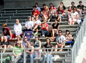 South Kitsap soccer fans enjoy the sunshine at the Narrows League tournament in Tacoma on Saturday. SK lost to Stadium, 4-0.