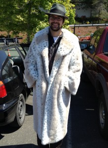 Scott Robinson looks incredible in this big ... coat.