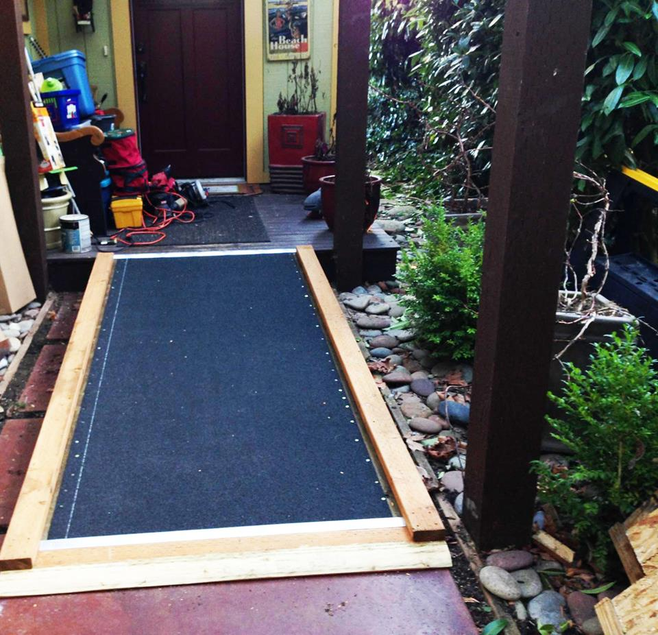 "Poulsbo Fire Department's ""C Shift"" built a ramp during their own time for a family in need. Contributed photo"