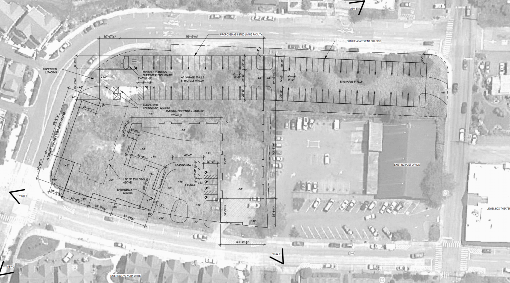 Site plans for Poulsbo Place II.