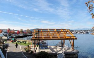 The new Marina Park Overlook Pavillon on the Port Orchard Waterfront on Wednesday October 12, 2016. LARRY STEAGALL / KITSAP SUN