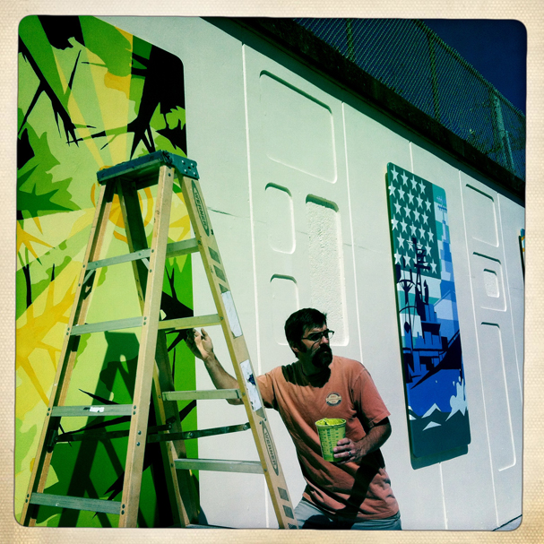 """Mural Installation"" by Meegan M. Reid"