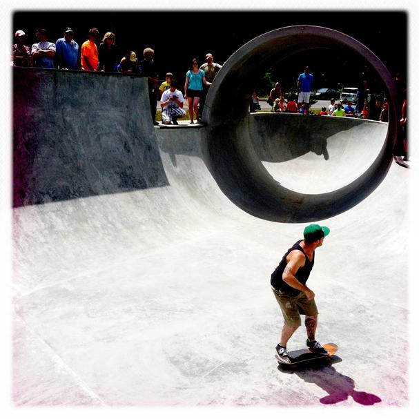 """""""Skate Park Opens"""" by Meegan M. Reid"""