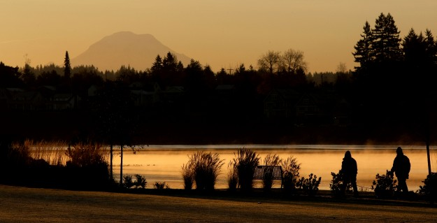 It was a cold, frosty morning just after sunrise at Lions Park in Bremerton on Thursday. (LARRY STEAGALL / KITSAP SUN)
