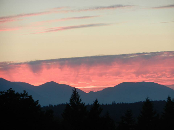 """Sunset from Caldart Ave. in Poulsbo. "" by Emily Wilmot"