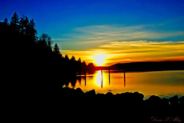 Twanoh Sunset by Deena Alley