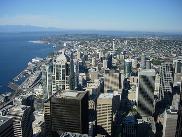 Beautiful Seattle View from Columbia Center by Barb Shippie