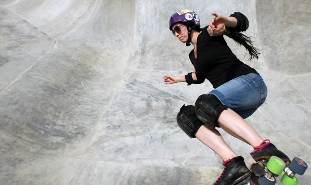 Ashley Bastian, of Port Orchard, skates during the opening day at the South Kitsap Skatepark in Port Orchard on Saturday, June 22, 2013. (MEEGAN M. REID / KITSAP SUN)