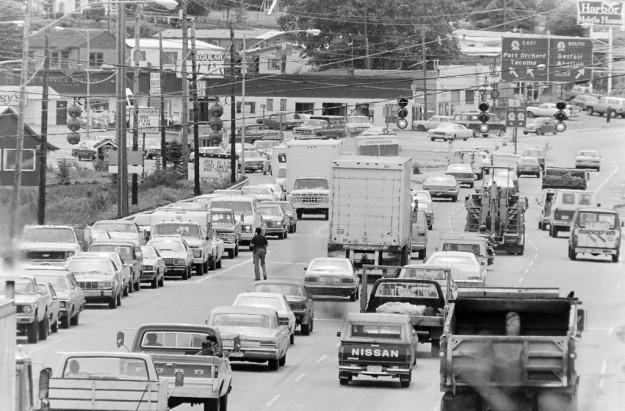 6/23/83 Navy Yard Traffic Steve Zugschwerdt / Bremerton Sun