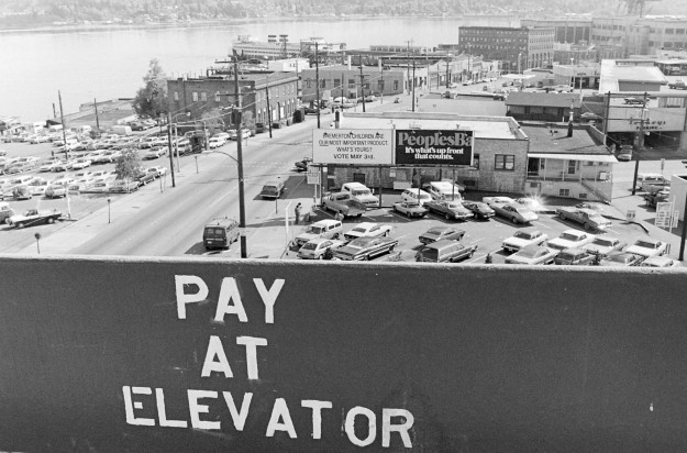 May 6, 1977 City Parking Garage Cliff McNair Jr. / Bremerton Sun