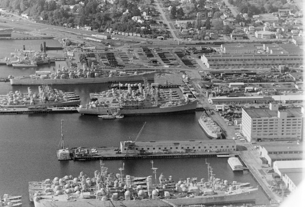 October 15, 1968 Aerial Of Bremerton (R. Ellis / Bremerton Sun)