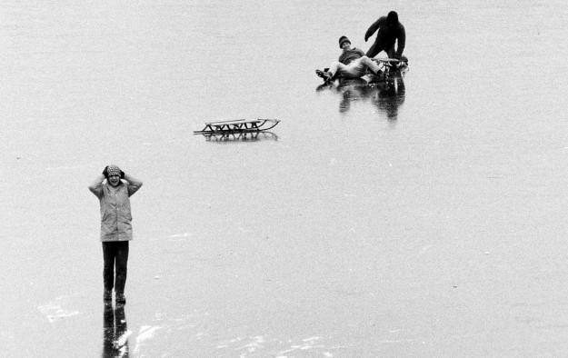 January 27, 1969 Frozen Over Kitsap Lake Richard Ellis / Bremerton Sun