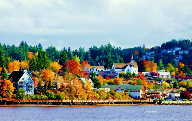 Fall in Poulsbo by Mary Moff Saurdiff